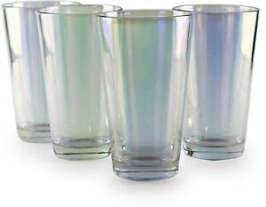 Circleware Radiance Set of 4 Heavy Base Highball Cooler Drinking Glasses Beve...
