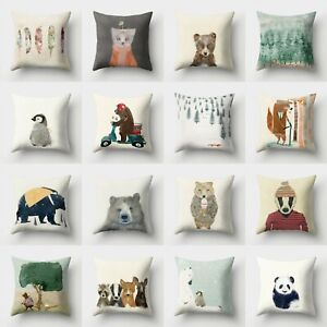Sofa Cushion Throw Pillow Decor 18#x27;#x27; Polyester Case Home Waist Cover $2.55