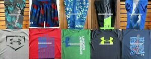 UNDER ARMOUR BOYS YOUTH SIZE 6 ~ SHORTS ~ TOPS ~ SUMMER 10PC ~BRAND NEW