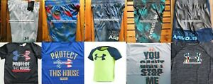 UNDER ARMOUR BOYS YOUTH SIZE 6 ~ SHORTS ~ TOPS ~ SUMMER 10PC ~ NEW w TAG
