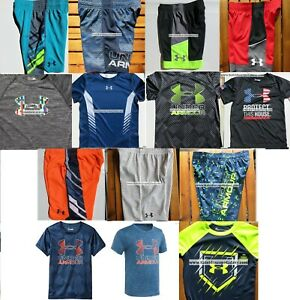 UNDER ARMOUR BOYS YOUTH SIZE 4 ~ SHORTS ~ TOPS ~ SUMMER 14PC ~BRAND NEW $324