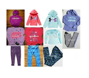 GIRLS SIZE 5 UNDER ARMOUR ~ 11pc ~ HOODIE SWEATSHIRT ~ LEGGINGS $350 PURPLE
