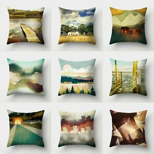 Case Pillow Polyester Home Waist Cushion Decor Cover 18#x27;#x27; Throw Sofa $2.55