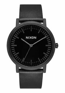 Nixon Porter Leather in All Black/Black A10581147-00  Free Shipping