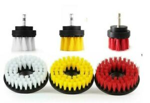 Power Scrubber Drill Brush Set Cleaner Spin Tub Shower Tile Grout Wall 6 Brushes