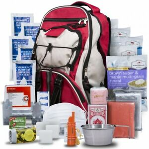 Wise Red Emergency Survival First Aid Kit with Food & Water for One Person