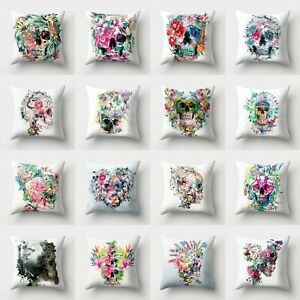Print Skull Home Cover Polyester Throw Decor Sofa Case Pillow Waist 18#x27;#x27; Cushion $2.29