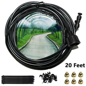 Misting Cooling System Fan Cooler Outdoor Patio Garden Water Mist Nozzles 19.6FT