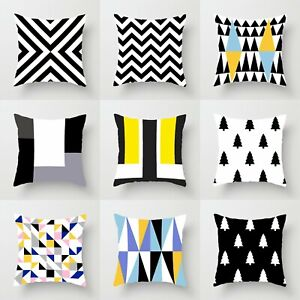 18#x27;#x27;*18#x27;#x27; Pillow Home Case Throw Polyester Cover Cushion Waist Decor Sofa $2.55