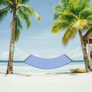 14 FT IndoorOutdoor Camping Double Hammocks Chair Swing Bed For Patio Yard Blue