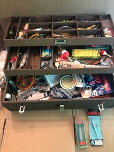 vintage fishing tackle box full New And Old Tackle Box Comes With Price.