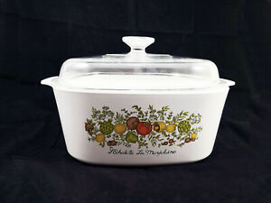 Vintage Corning Ware 3-Quart Spice O' Life Covered Casserole A-3-8