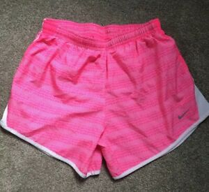 Girls Nike Dri-Fit Size Youth Large Lined Running Shorts Pink