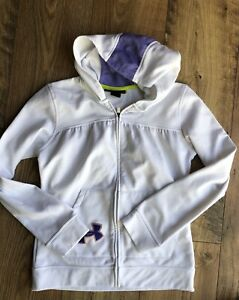 Girl's UNDER ARMOUR Full-Zip hoodie Sweatshirt Size YMD Youth Medium M Loose