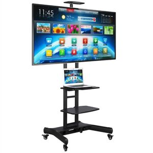 "32-70"" Universal Flat Screen TV Carts Stand Mobile TV Console Stand with Mount"