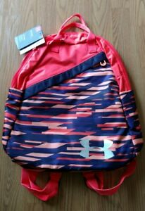 Under Armour UA FAVORITE Girl's Laptop Backpack Purple Orange NEW NWT