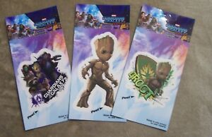3 Guardians of the Galaxy Vol.2 I am Groot Decal Marvel set w/Star Lord