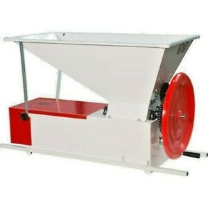 Italian Crusher Destemmer - Manual, Painted easy-to-clean grapes fall through
