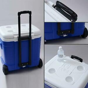 Igloo Ice Cube Roller Cooler Camping Drinks Food Supplies Storage Coolers Blue