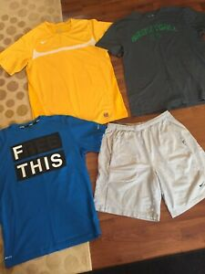 Mens Size Large Lot Under Armour Nike Tees Shorts $29.99