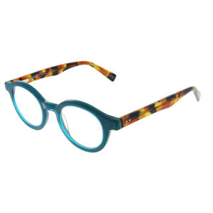 Eyebobs TV Party 2236 59 Teal Plastic Round +2.50 Reading Glasses 44mm