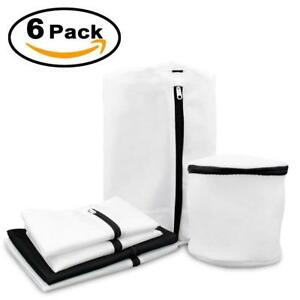 New 6 Pack Mesh Laundry Washer Dryer Bags Lingerie Underwear Bras