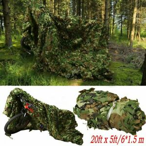 Woodland Leaves Military Camouflage Net Hunting Camo w/String Netting 20x5FT CF