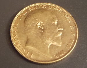 British Sovereign Gold Coin Edward 7 from 1906