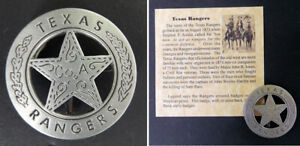 Texas Ranger Badge Peso Back Company A boxed Old West Western