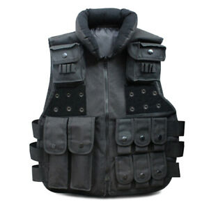 Military Tactical Vest SWAT Police Airsoft Hunting Assault Plate Carrier Combat