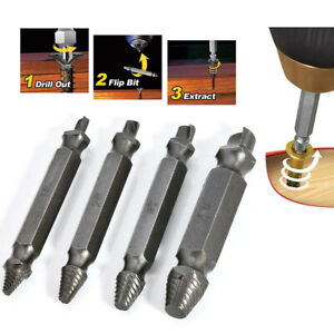 New Broken Bolt Damage Screw Remover Extractor Drill Bits Easy Out Stud Reverse