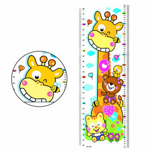 Removable Giraffe Height Chart Measure Wall Sticker Kids Baby Room Decor Welcome