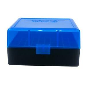 AMMO BOXES (10) BLUE 100 ROUND 223  5.56 - Berry's Plastic Container