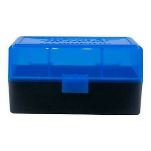 AMMO BOXES (10) BLUE 50 Round 223  5.56 - Berry's Plastic Container