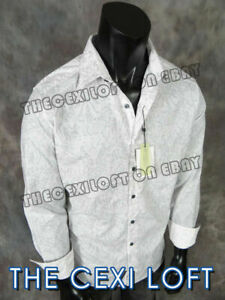 Mens Robert Graham Sport Shirt WATCH HILL White with Embroidered Back Designs