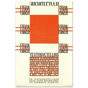 Re Society quot;Architectuur F.L. Wrightquot; Hand Pulled Lithograph Art $77.00