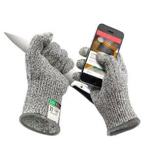 Protective Cut Resistant Gloves Level 5 Certified Safety Meat Cut Wood Carving $4.89