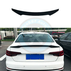 Gloss Black Rear Tail Trunk Lip Spoiler Wing Fit For AUDI A4 B9 S4 2017-2022