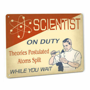 Scientist On Duty Sign Science Laboratory Research Lab Decor