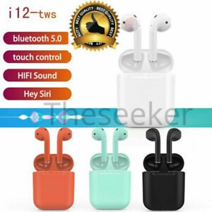 i12 TWS Bluetooth AirPods Style Earbuds Smart Touch Control Headset Headphone