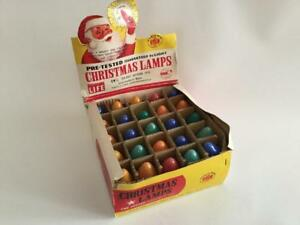 Vintage Outdoor Colored Christmas Light Bulbs C9 1 4 Box of 24 Tested