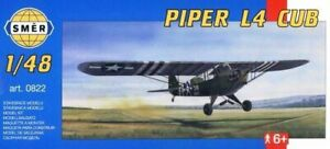 Piper L-4 Cub, D-Day, Operation Torch (1/48 model kit, Smer 0822)