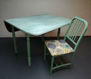 Drop Leaf Table and Set of 4 Chairs