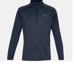 Under Armour Mens UA Tech 12 Zip Long Sleeve New Tall Mens 4XLT 1328495 409