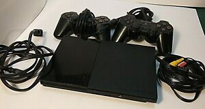Sony Play Station 2 Slim w/2 Controllers and Memory Card SCPH-90001 WORKS