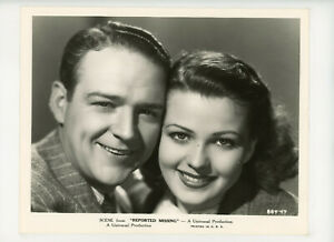 REPORTED MISSING Original Movie Still 8x10 Jean Rogers William Gargan 1937 20049