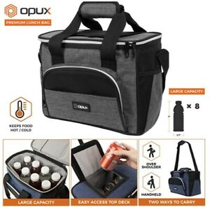 Large Insulated Lunch Bag Soft Cooler for Men Women Reusable Lunch Tote Box NEW $16.99