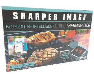 Sharper Image Bluetooth Intelligent Grill Thermometer, iOS / Android App Enabled