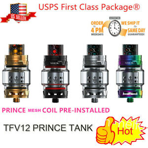 SMOK² TFV12 Prince Tank 8ml Single Tank w/ Mesh Coil² Top Airflow Same day ship