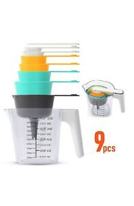 New In Box 9 Peice Measuring Set. Cups amp; Spoons $12.99